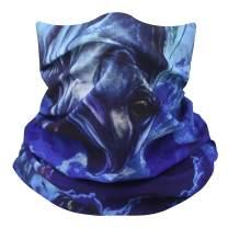 Face Mask Bandana Neck Gaiter - Scarf Headband with Hemmed Edge for Men Women