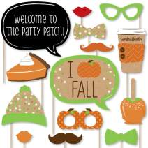 Big Dot of Happiness Pumpkin Patch - Fall or Thanksgiving Party Photo Booth Props Kit - 20 Count