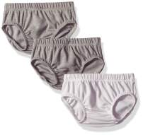 Hanes Ultimate Baby Flexy 3 Pack Diaper Covers, Grey, 0-6 Months