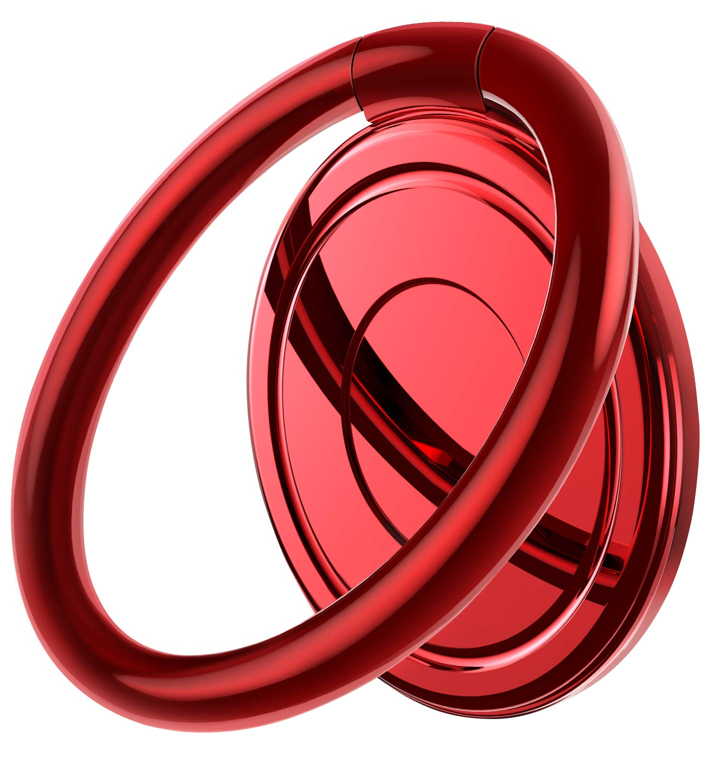 RANVOO Phone Ring Holder, Cell Phone Finger Kickstand, Adjustable and Rotatable Stand Compatible with All Smartphone for iPhone SE/ 11 Pro Max/11 Pro/11/7/8/7 Plus/8Plus/Xs/XR/Note 10 S10 LG, Red
