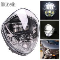 HOZAN 7 Inch Hi & Low Beam Black Motorcycle Headlight for Victory Cross Country Cross Road Vegas