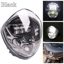 HOZAN 7 Inch Hi & Low Beam Black Motorcycle Headlight for Victory Cross Country Cross Road Vegas