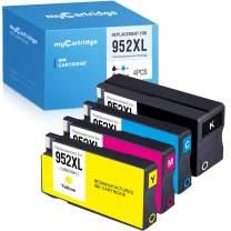 MYCARTRIDGE Remanufactured Ink Cartridge Replacement HP 952XL 952 XL (1 Black 1 Cyan 1 Magenta 1 Yellow, 4-Pack)