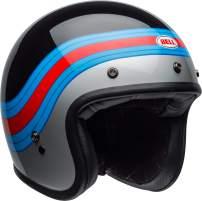 Bell Custom 500 Open-Face Motorcycle Helmet (Pulse Gloss Black/Blue/Red, Small)