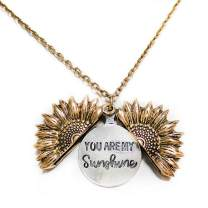 AddFavor Butterfly Pendant Necklace Flower Locket Gold Silver Jewellery Gifts for Women Girls