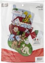 Bucilla Noah's Ark Felt Stocking Kit, Multi Color