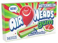 Airheads Candy Sugar-Free Chewing Gum with Xylitol, Watermelon, 14 Sticks (Bulk Pack of 12)
