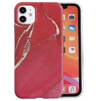 wzjgzdly iPhone 11 Case [Marble Elements Pattern] Compatible for Apple iPhone 11 - Red