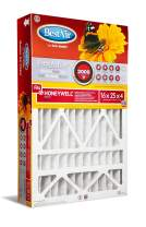 """BestAir HW1625-11R Air Cleaning Furnace Filter, MERV 11, Removes Allergens & Contaminants, for Honeywell Models, 16"""" x 25"""" x 4"""", Single Pack"""