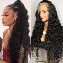 ARIETIS 16 Inch Water Wave 360 Lace Front Wigs Human Hair Brazilian Wet and Wavy Pre Plucked with Baby Hair 100% Unprocessed Virgin Hair 150% Density