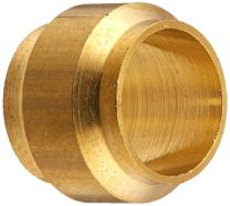 Legris 0124 06 00 Brass Compression Tube Fitting, Sleeve, 6 mm Tube OD