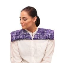 Heat Therapy Pack - Neck & Shoulder Wrap - Scented Heating Pads - Microwaveable & Reusable Neck Warmer, Stress, Tension Relief by HTP Relief (Purple)