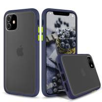 abitku iPhone 11 6.1 Case, Translucent Matte Back [Shockproof and Anti-Drop Protection] Cover Frosted Case for iPhone 11 6.1 Inch 2019 (Blue)