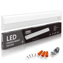 """Hardwired LED Under Cabinet Task Lighting - 16 Watt, 24"""", Dimmable, CRI>90, 3000K (Soft White), Wide Body, Long Lasting Metal Base with Frost Lens"""