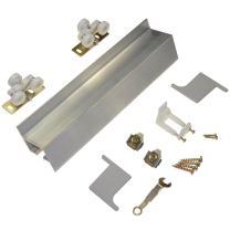 """Johnson Hardware 2610 Wall Mount Barn Door Type Sliding Door Hardware 96"""",Mill Aluminum"""