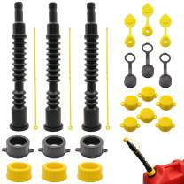 Five Bananas Gas Can Spout Replacement Kit with Gas Can Spouts, Stopper Caps, Gas Can Vent Caps, Collar Caps, Spout Kit for Water Jugs and Old Can, 3 Pack