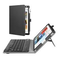 Fintie Keyboard Case for Mini 5th Gen 2019 / iPad Mini 4 - [Corner Protection] PU Leather Folio Stand Cover w/Pencil Holder, Removable Wireless Bluetooth Keyboard for iPad Mini 5 / Mini 4, Black