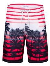 "APTRO Men's 9"" Swim Trunks Long Board Shorts Beach Swimwear Bathing Suits with Mesh Lining and Pockets"