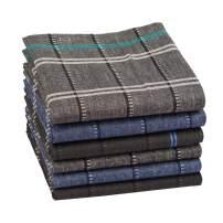 "Houlife 100% 60S Cotton Men Checkered Pattern Handkerchiefs Plaid Hankies 16x16"""