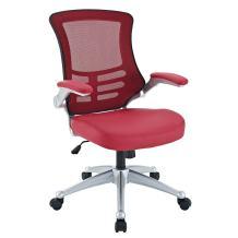 Modway Attainment Mesh Vinyl Modern Office Chair in Red