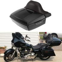 US Stock Advanblack Vivid/Glossy Black King Tour Pak Key Latch Trunk Pack Fit for Harley Touring Road Glide Street Glide Special Road King Electra Glide Ultra Classic 2014-2020