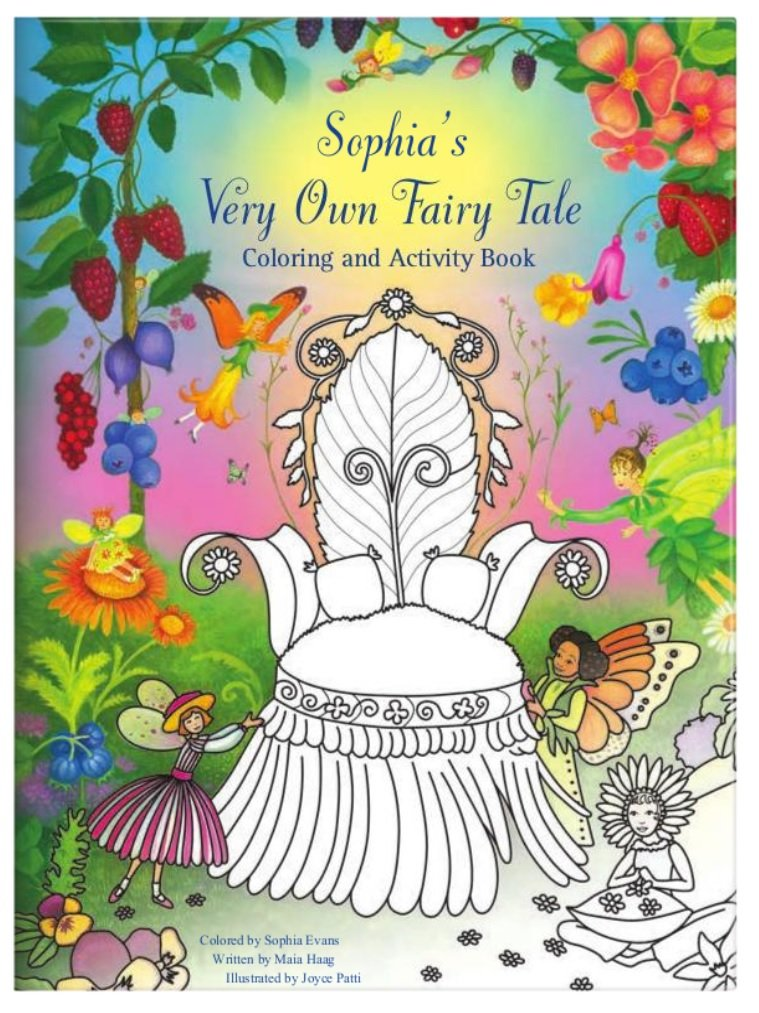 Coloring Book for Kids Toddlers Children Girls, Personalized Custom Name, Fairy Princess