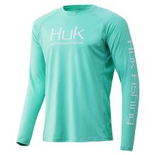 HUK Men's Pursuit Solid Long Sleeve Performance Fishing Shirt, Electric Green, XX-Large
