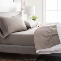 Brookside - Microfiber Sheet Set - Soft and Cozy - Hypoallergenic - Easy Care Fabric - Stain and Wrinkle Resistant - King - Sandstone