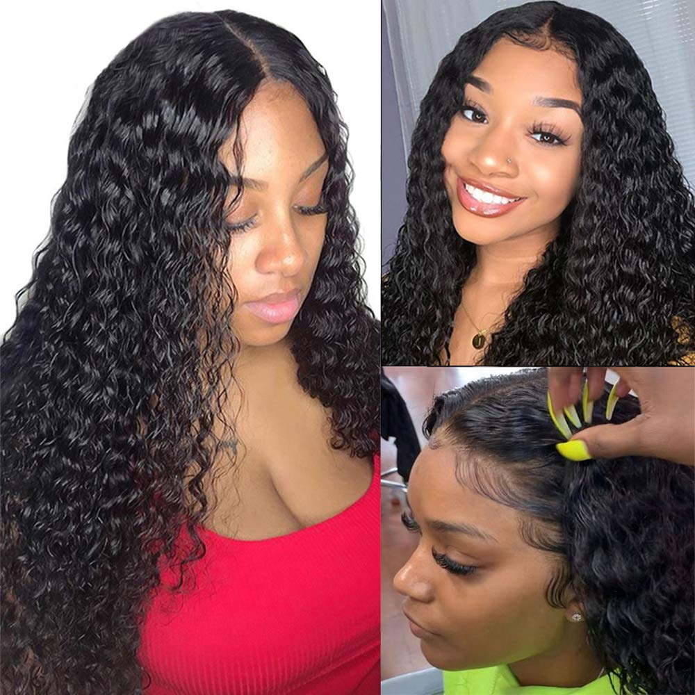 13x4 Water Wave Lace Frontal Wigs Human Hair Wigs Wet and Wavy Lace Front Wigs Human Hair Water Wave Frontal Wigs Glueless Wigs Human Hair Lace Front Wigs Human Hair with Baby Hair for Black Women