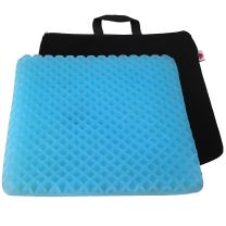 """FOMI Premium Firm All Gel Orthopedic Seat Cushion Pad (15"""" x 15"""") for Car, Office Chair, Wheelchair, or Home. Pressure Sore Relief. Ultimate Gel Comfort, Prevents Sweaty Bottom, Durable, Portable"""