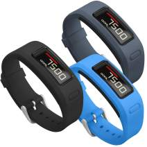 SKYLET Compatible with Garmin Vivofit Bands, Soft Silicone Replacement Sport Wristands Compatible with Garmin Vivofit 1 with Metal Buckle Men Women (No Tracker)