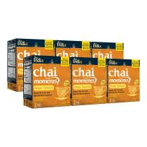 Tea India Chai Moments Instant Ginger Turmeric Chai Tea Latte Mix, 10 Count (Pack of 6)