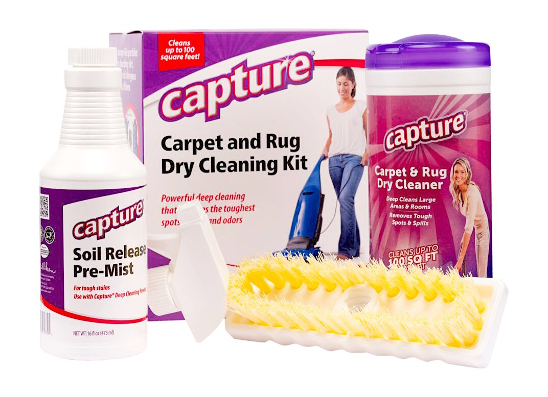 Capture Carpet Dry Cleaning Kit 100 - Deodorize Stains Smell Moisture from Rug Furniture Clothes and Fabric, Pet Stains Odor and Smoke Too