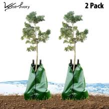 West Ivory 2PK Slow Release Automatic Drip Irrigation 15 Gallon Tree Watering Bag 2pk