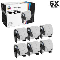 LD Compatible Shipping Label Replacement for Brother DK-1202 2.4 in x 3.9 in (300 Labels, 6-Pack)