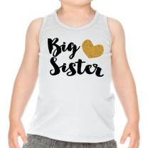 Big Sister Shirt Gold Big Sister Tank Top