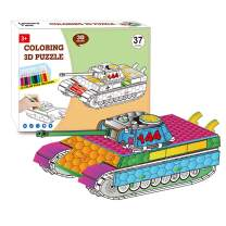 QUN FENG 3D Puzzle Set Art Coloring Painting 3D Puzzle Arts and Crafts for Kids Age 7 8 9 10 11 12. Fun Creative DIY Toys Gift for Girls and Boy Doodle, Tank