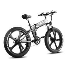 W Wallke 26 inch Fat Tire E-Bike 750W Mountain Snow Electric Bicycle 48V10.4ah Beach Cruiser Adult Auxiliary ebike Double Disc Hydraulic Brake System