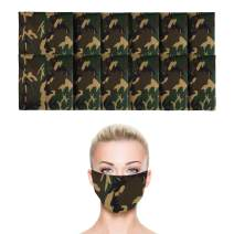 12 Pack Camo Green Bandana | 100% Cotton | Face Mask for Dust & Sun Protection | Nose Cover