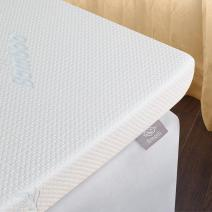 Emolli Memory Foam Mattress Topper - High Density Gel Infused Memory Foam Bed Pad, 3 inches, Full