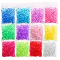 CandyHome 12 Pack Fishbowl Beads, Slime Beads for Homemade Slime Clear Vase Slime Supplies Arts DIY Crafts, Party or Wedding Decoration 12 Colors 8.5 Ounces
