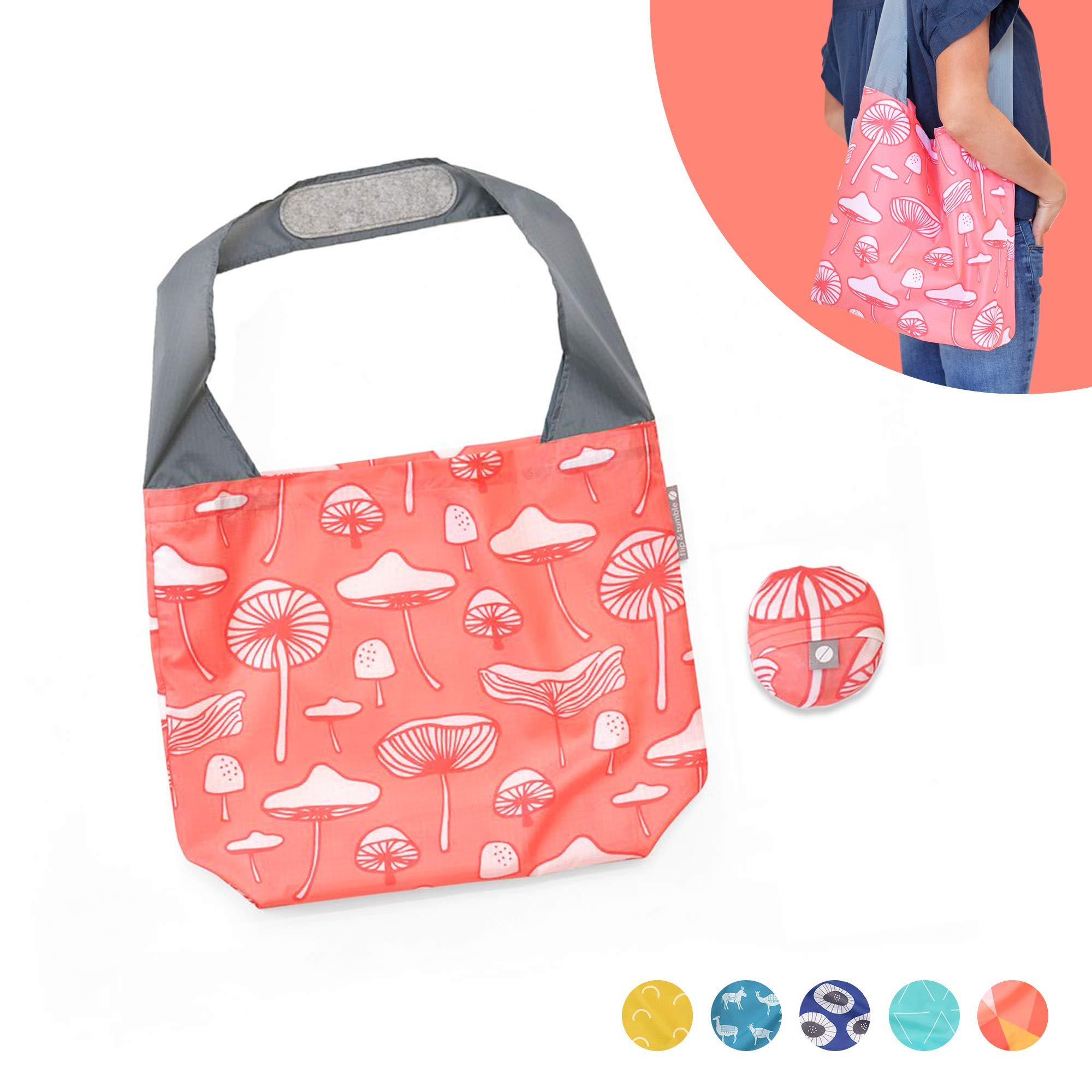 Mix Assorted Design and Colors 5 Pcs Grocery Multi Purpose Reusable Bags