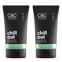 C&C by Clean & Clear Chill Out Cooling Mint Pore Facial Cleanser, Oil Free, Minty Fresh, Removes Dirt and Oil, Face Wash, 4.2 fl oz (Pack of 2)