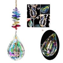 H&D Sun Catcher Feng Shui Crystals Window Large 76mm AB Drop Prism Octagon Beads Home Decor