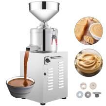 VBENLEM 110V Commercial Peanut Butter Maker 35 Kg/h Electric Peanut Butter Maker 1450 r/Min Stainless Steel Peanut Butter Maker Machine 1500w Sesame Sauce Grinder Machine for Peanut Butter