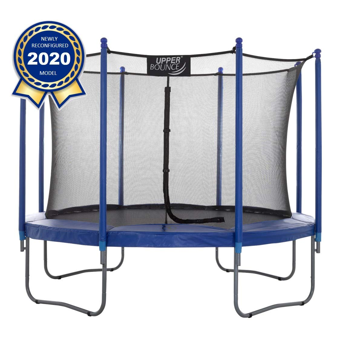 Upper Bounce Easy-to-Assemble Round Trampoline Set with Premium Jumping Mat & Safety Enclosure System | The #1 Best Outdoor Trampoline for Kids!