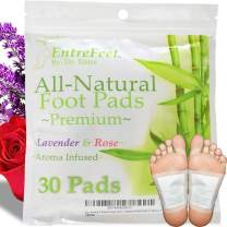 Dr. Entre's Foot Pads: Organic All Natural Formula for Impurity Removal, Pain Relief, Sleep Aid, Relaxation | Aroma Infused 30 Pack Free Foot Care E-Book Included
