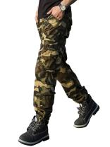 TAIPOVE Men's Casual Military Cargo Pants Relaxed-Fit Outdoor Camo Tactical Combat Trousers Work Pants with 6 Pockets