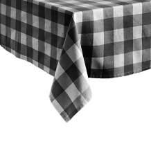 "Elrene Home Fashions Farmhouse Living Buffalo Check Tablecloth, 60"" x 84"", Black/White"