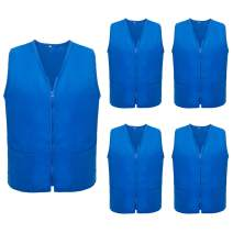 TOPTIE 5 Pack Volunteer Vest Waiter Bartender Work Uniform, Supermarket Clerk Workwear